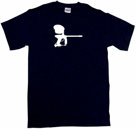 Paintball Gun Silhouette Logo Tee Shirt OR Hoodie Sweat