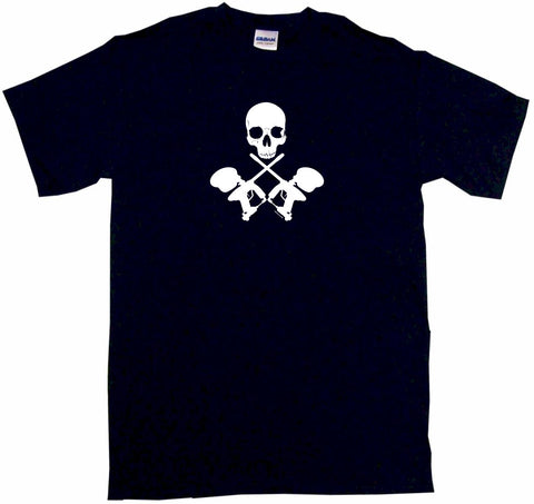 Crossed Paintball Guns with Skulls Tee Shirt OR Hoodie Sweat