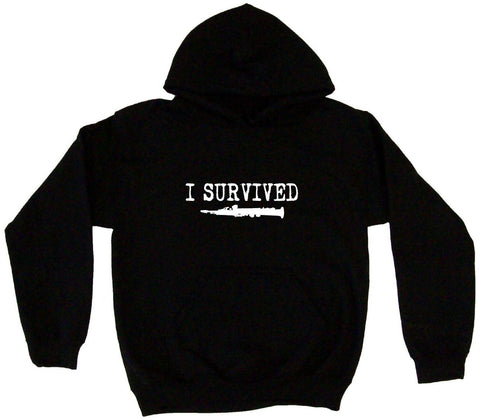 I Survived Clarinet Silhouette Hoodie Sweat Shirt