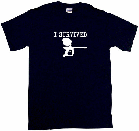 I Survived Paintball Gun Logo Tee Shirt OR Hoodie Sweat