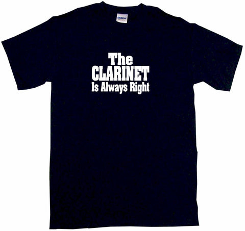The Clarinet is Always Right Kids Tee Shirt