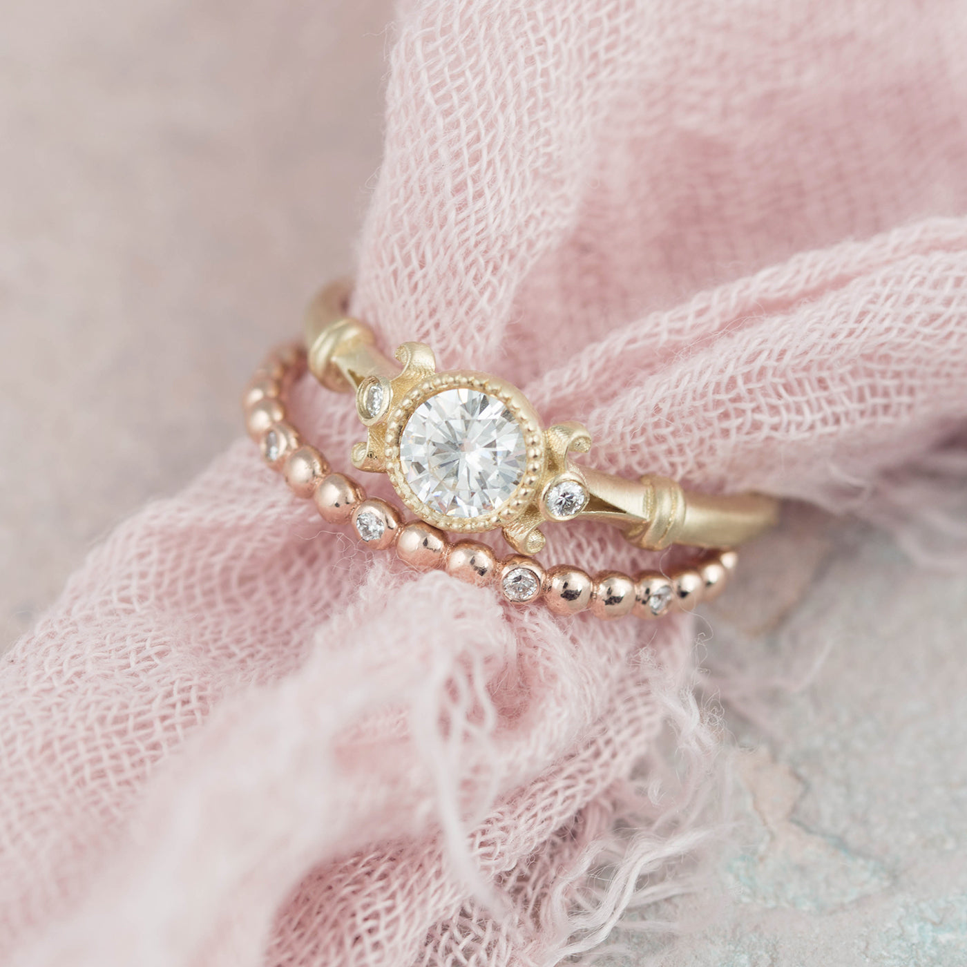 Florence Vintage Style Solitaire Engagement Ring