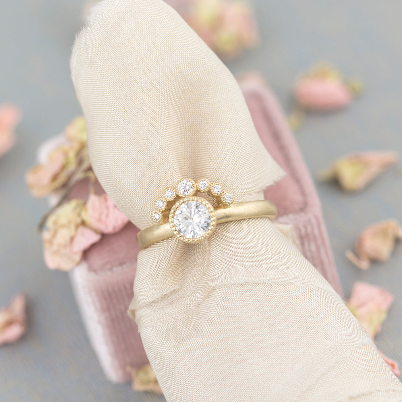 vintage halo engagement ring