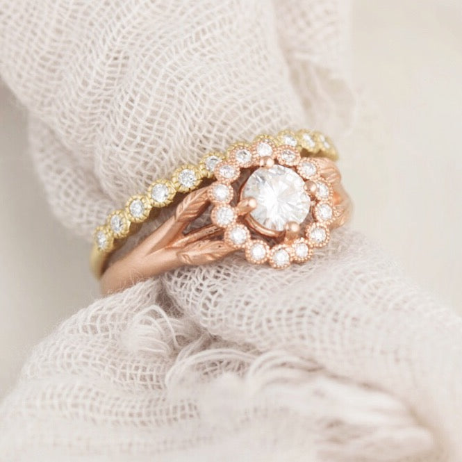 Vintage Rose Gold Engagement Ring Gwendolyn