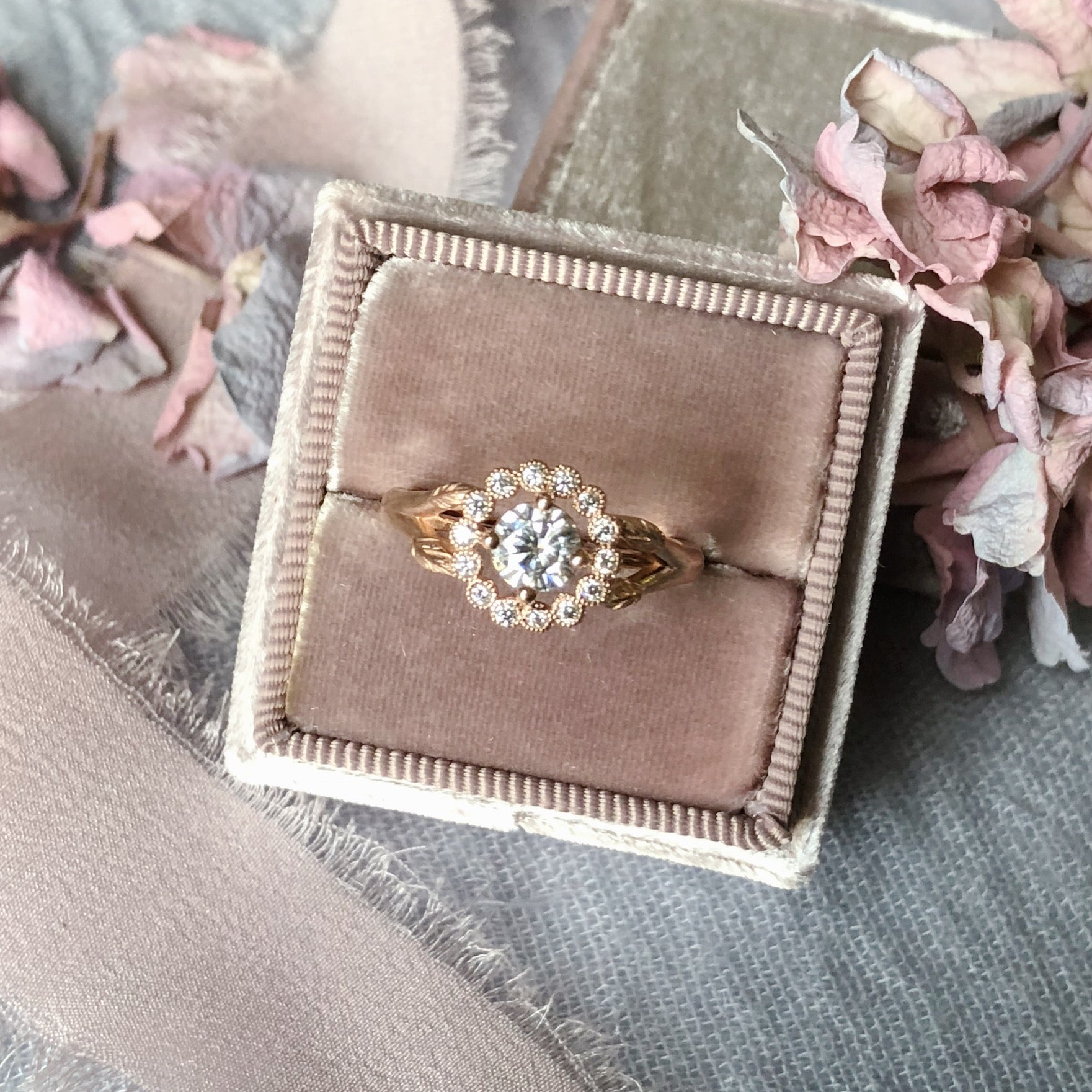 Vintage Rose Gold Engagement Ring