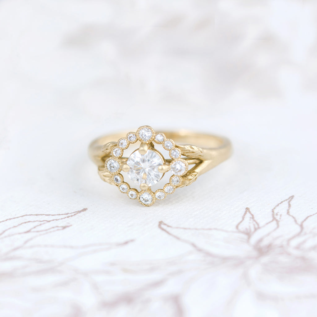 Vintage Inpsired Romantic Engagement Ring