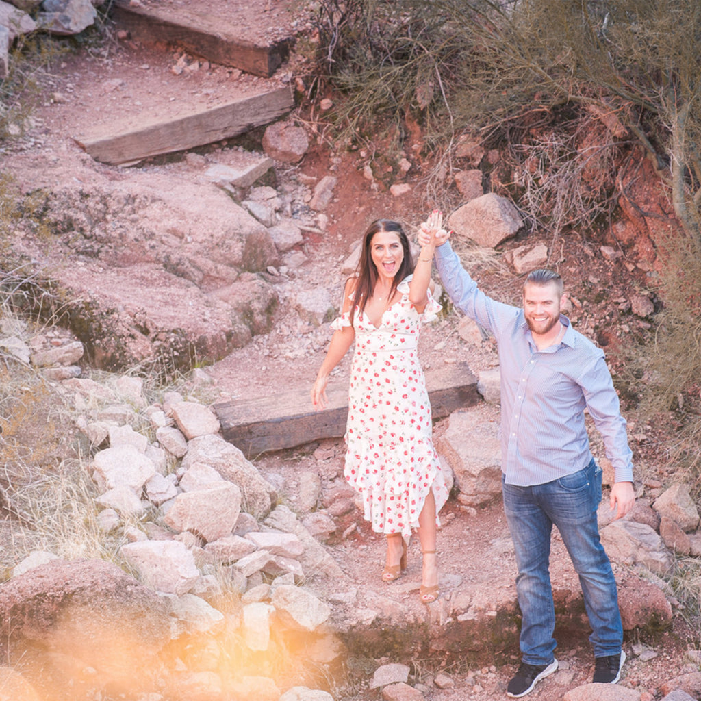 Surprise Engagement Camelback Mountain