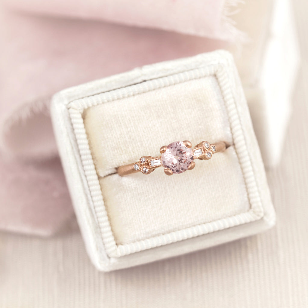 Rose Gold Pink Sapphire Engagement Ring