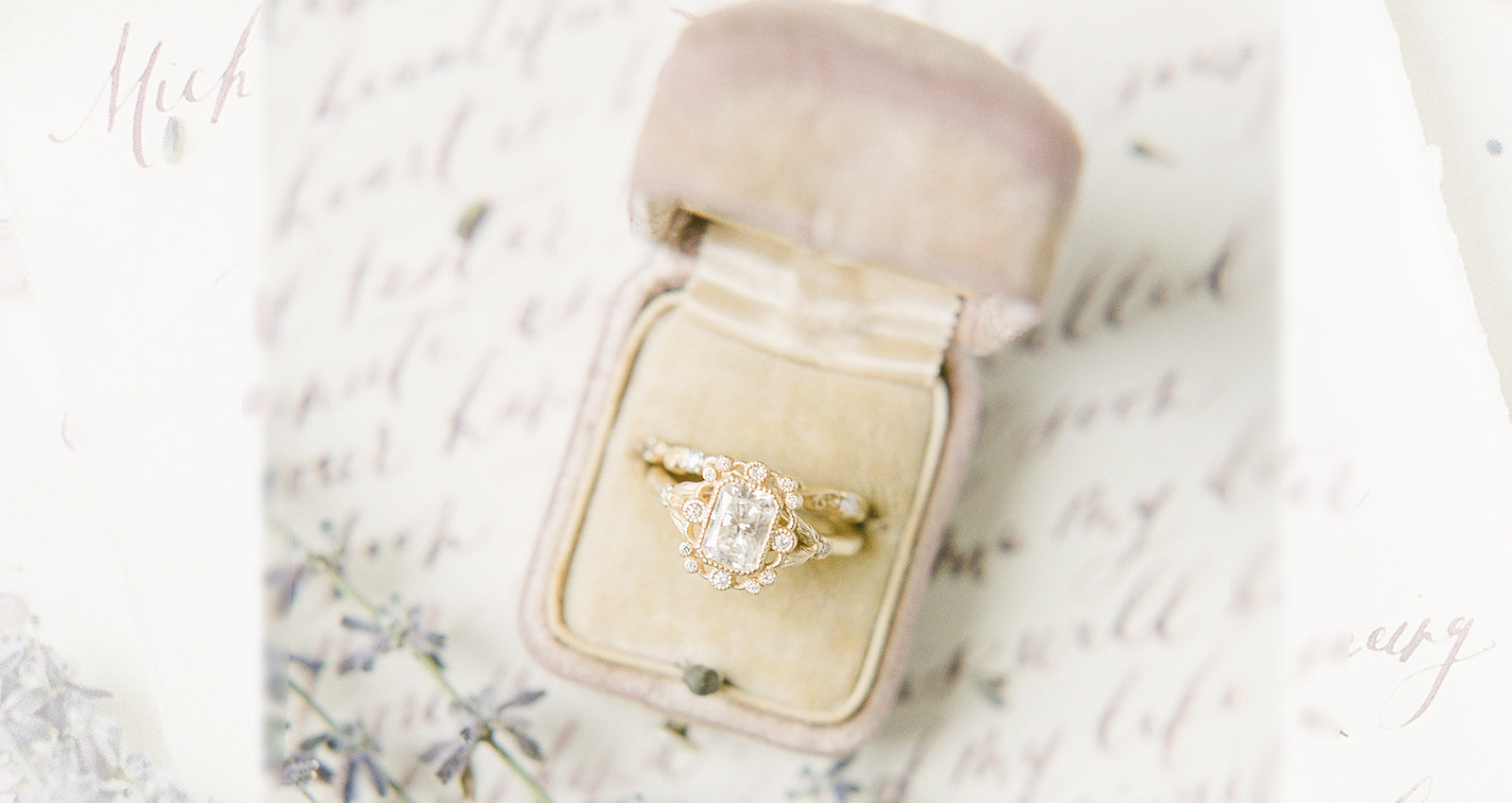 vintage inspired engagement rings emerald cut