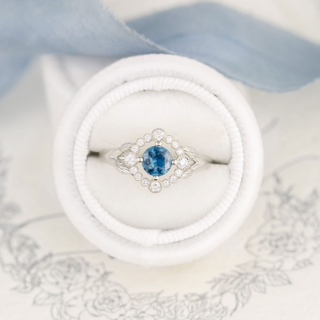 Teal Sapphire Ring Montana