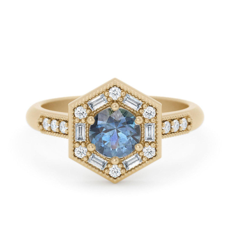 Art Deco baguette ring