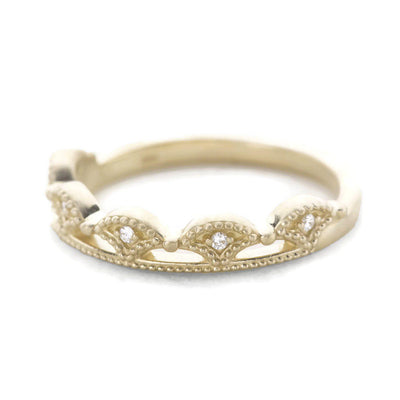 gold crown diamond band