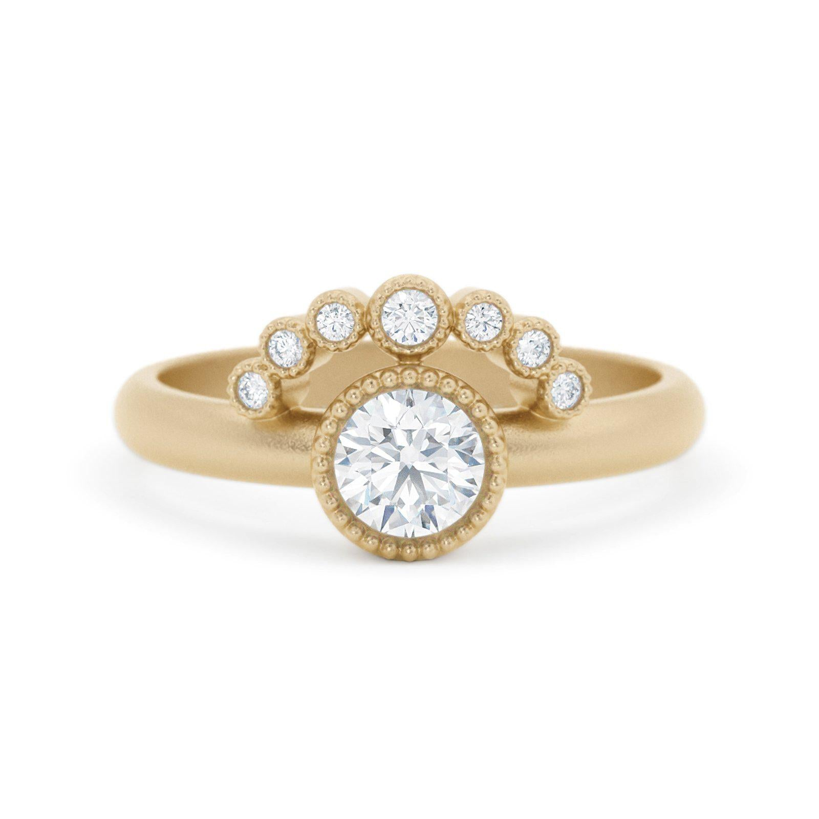 Adeline Diamond Tiara Ring 14k