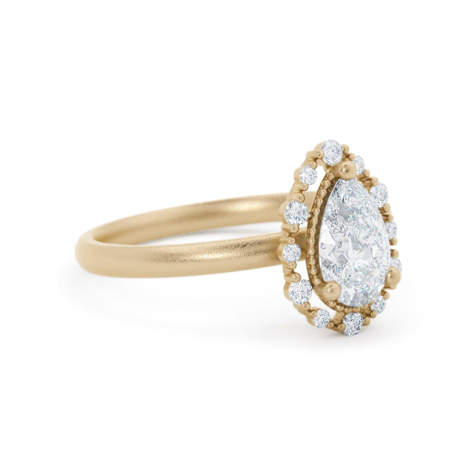 Amalie Diamond Delicate Engagement Ring Yellow Gold