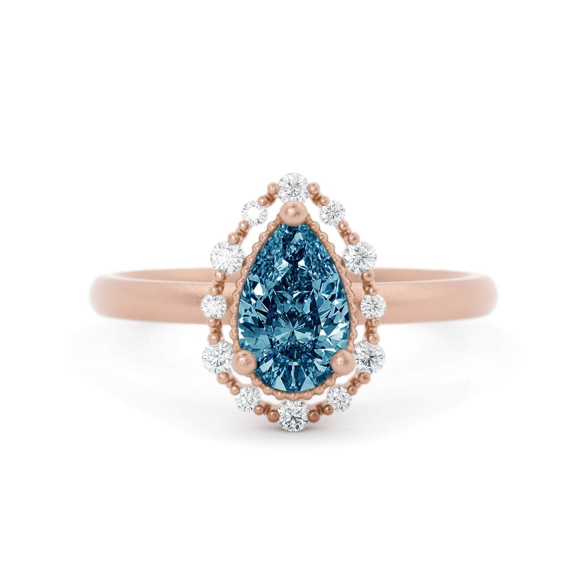 Amalie Montana Sapphire Engagement RIng Rose Gold