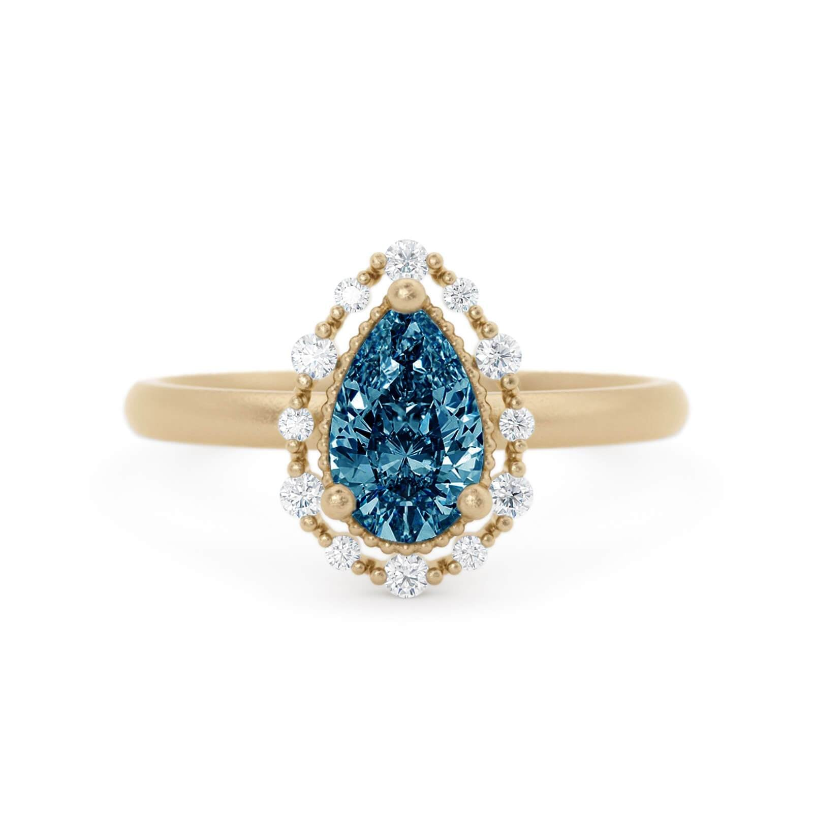 Amalie Montana Sapphire Engagement RIng Yellow Gold