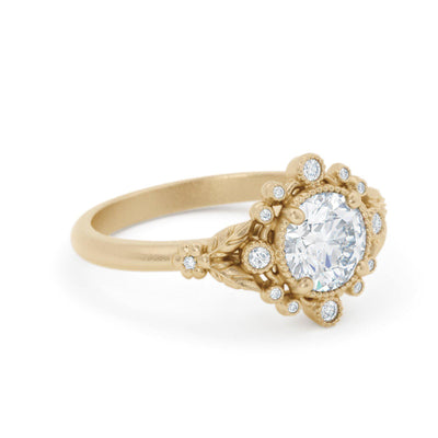 Anastasia Diamond Bohemian Engagement Ring 14k Yellow Gold