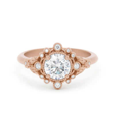 Anastasia Diamond Bohemian Engagement Ring Rose Gold