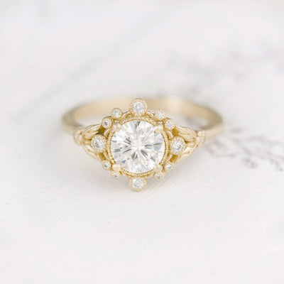 Anastasia Diamond Bohemian Engagement Ring Unique