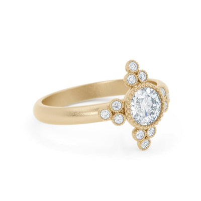 Antoinette Diamond Ring 14k vintage inspired