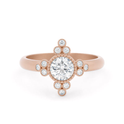 Antoinette Rose Gold Diamond Ring