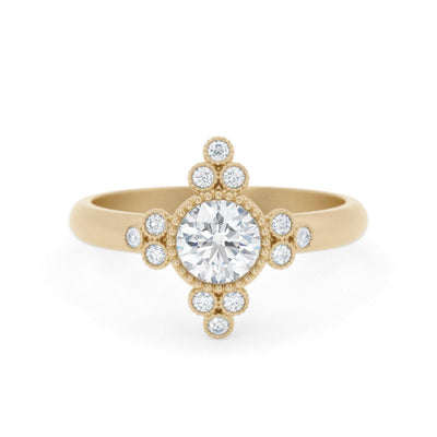 Antoinette Unique Diamond Ring