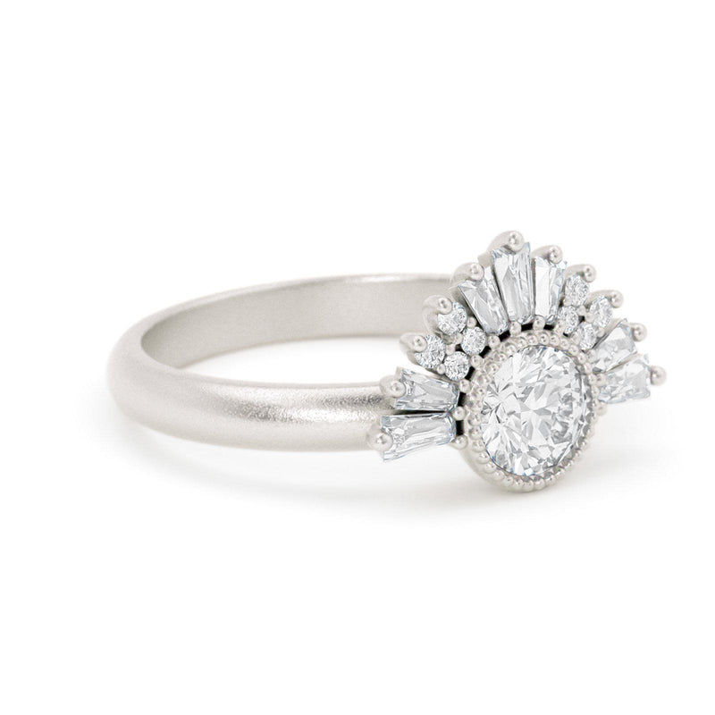 Aurora Art Deco Diamond Ring White Gold