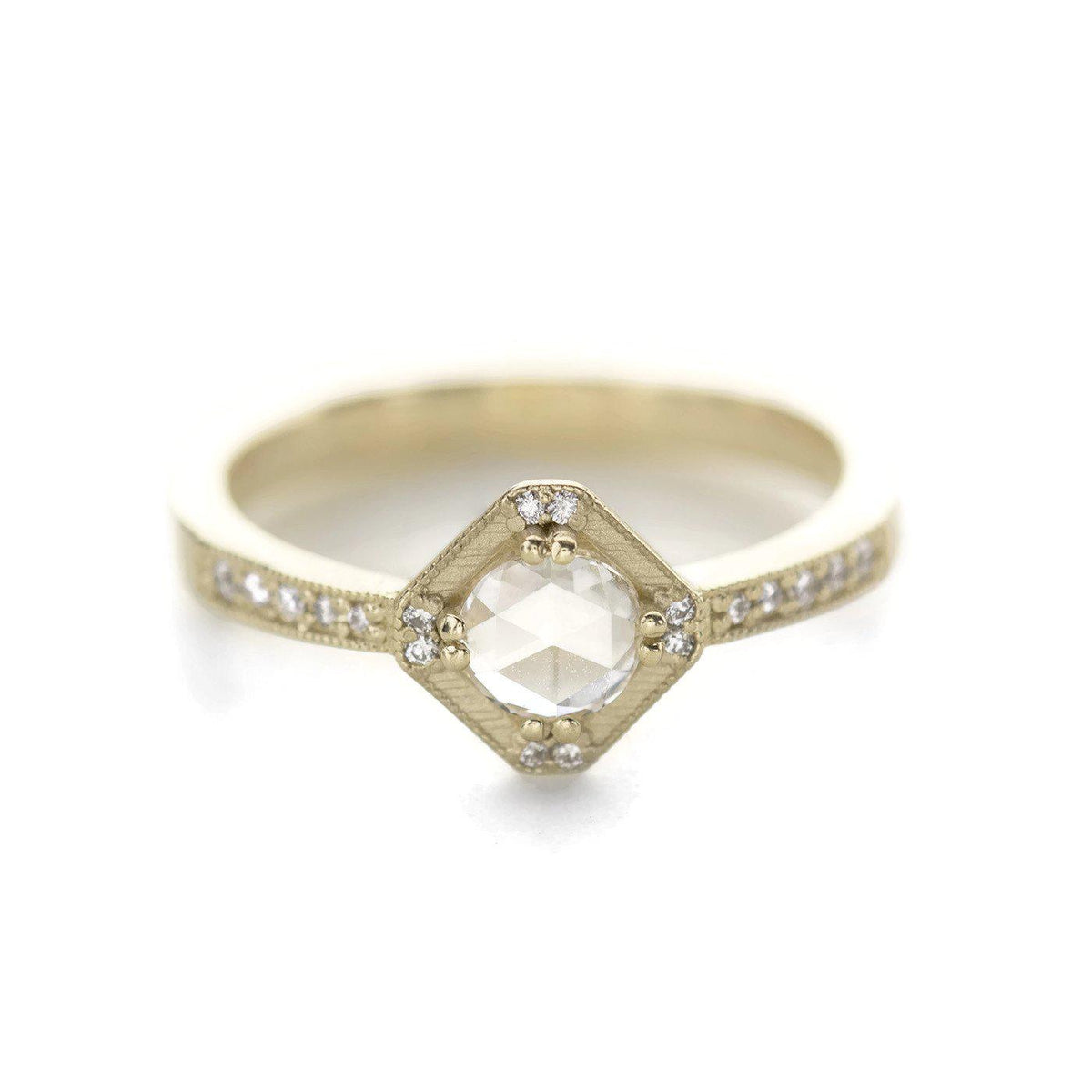 Beatrix Hexagon Rose Cut Diamond RIng