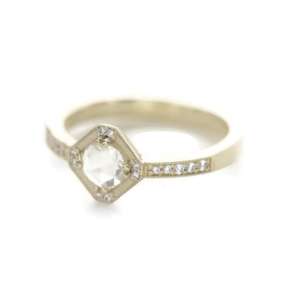 Beatrix Hexagon Diamond RIng