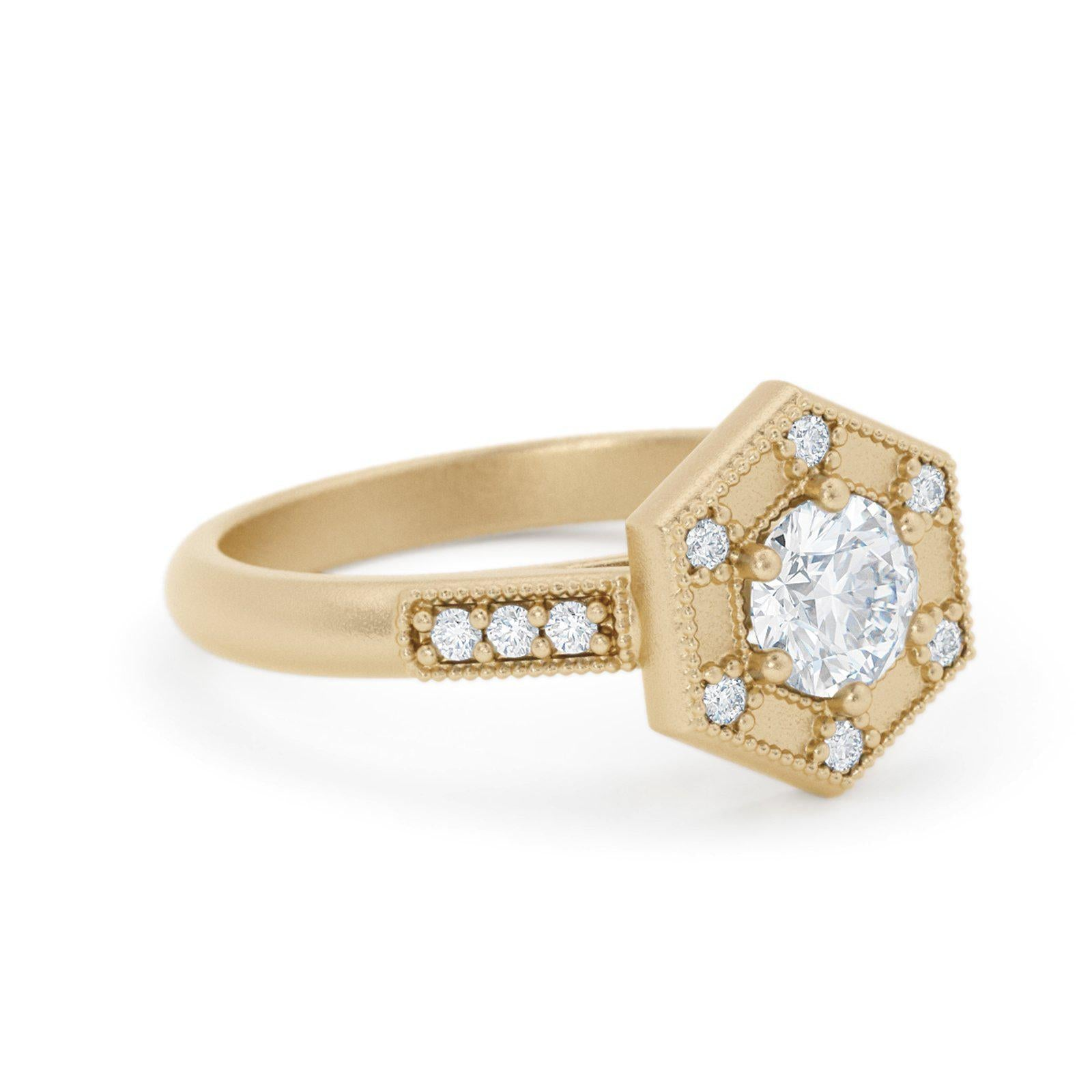 Claudette Art Deco Diamond Ring