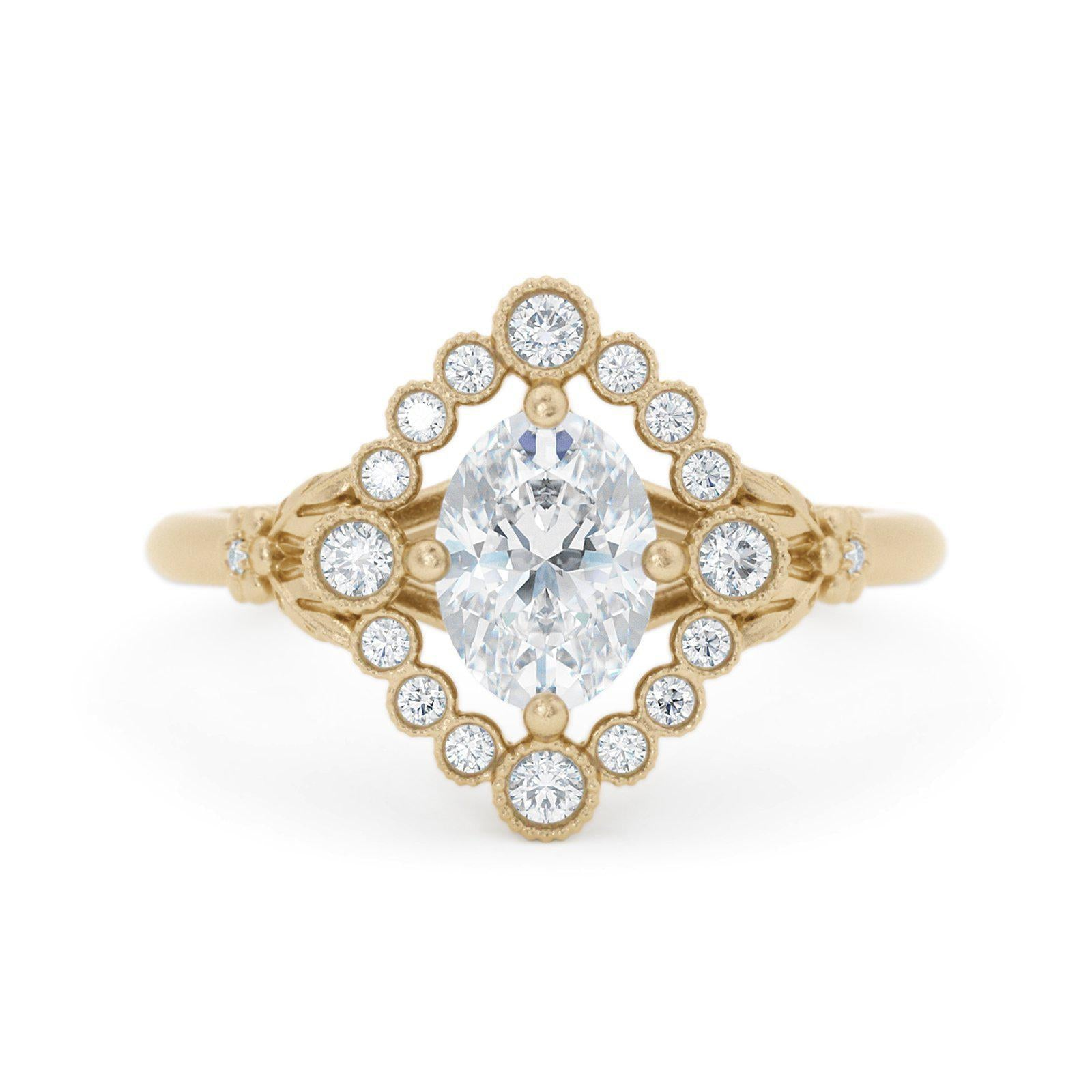 Dahlilah Oval Diamond Ring