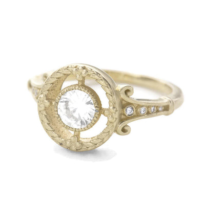 Emmaline Art Deco Diamond Halo Ring
