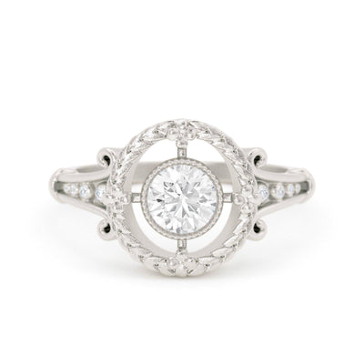 Emmaline Art Deco Diamond Ring White Gold