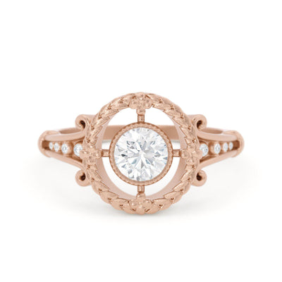Emmaline Art Deco Diamond Ring Rose Gold