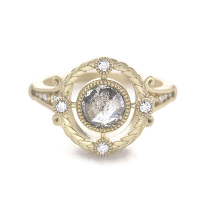 Emmaline Salt and Pepper Diamond Ring