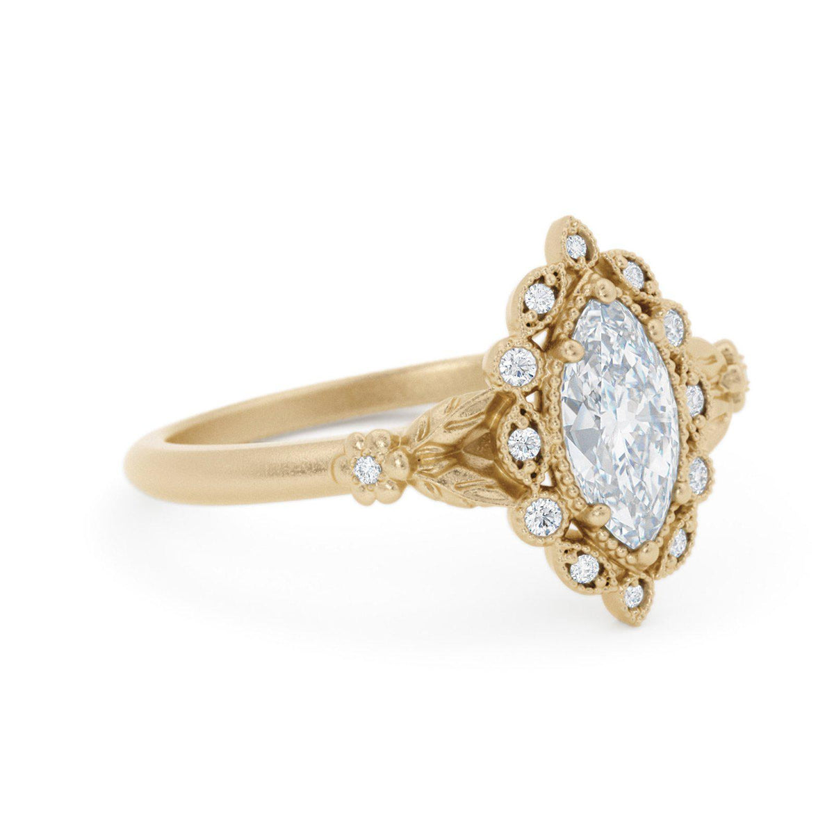 Filomina Marquise Halo Engagement Ring