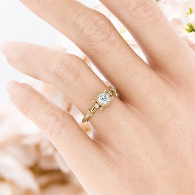 Florence Diamond Ring vintage inspired solitaire