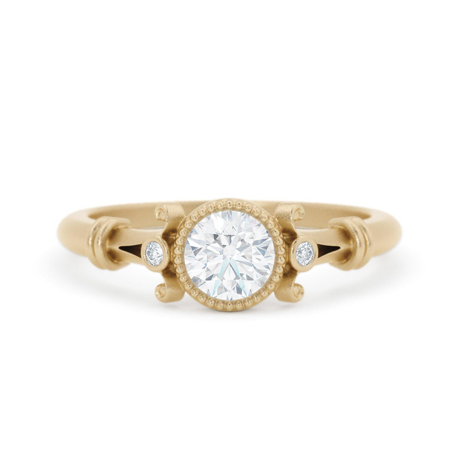 Florence Diamond Ring solitaire vintage style