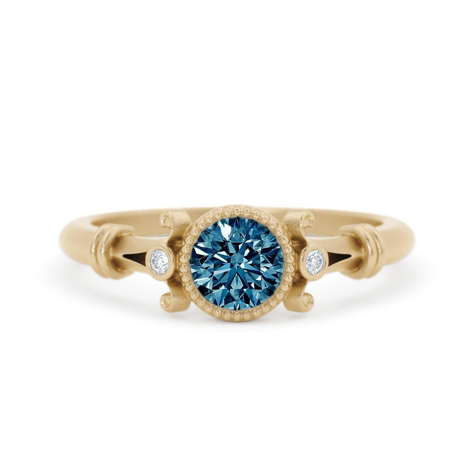 Florence Montana Sapphire Ring Vintage Style
