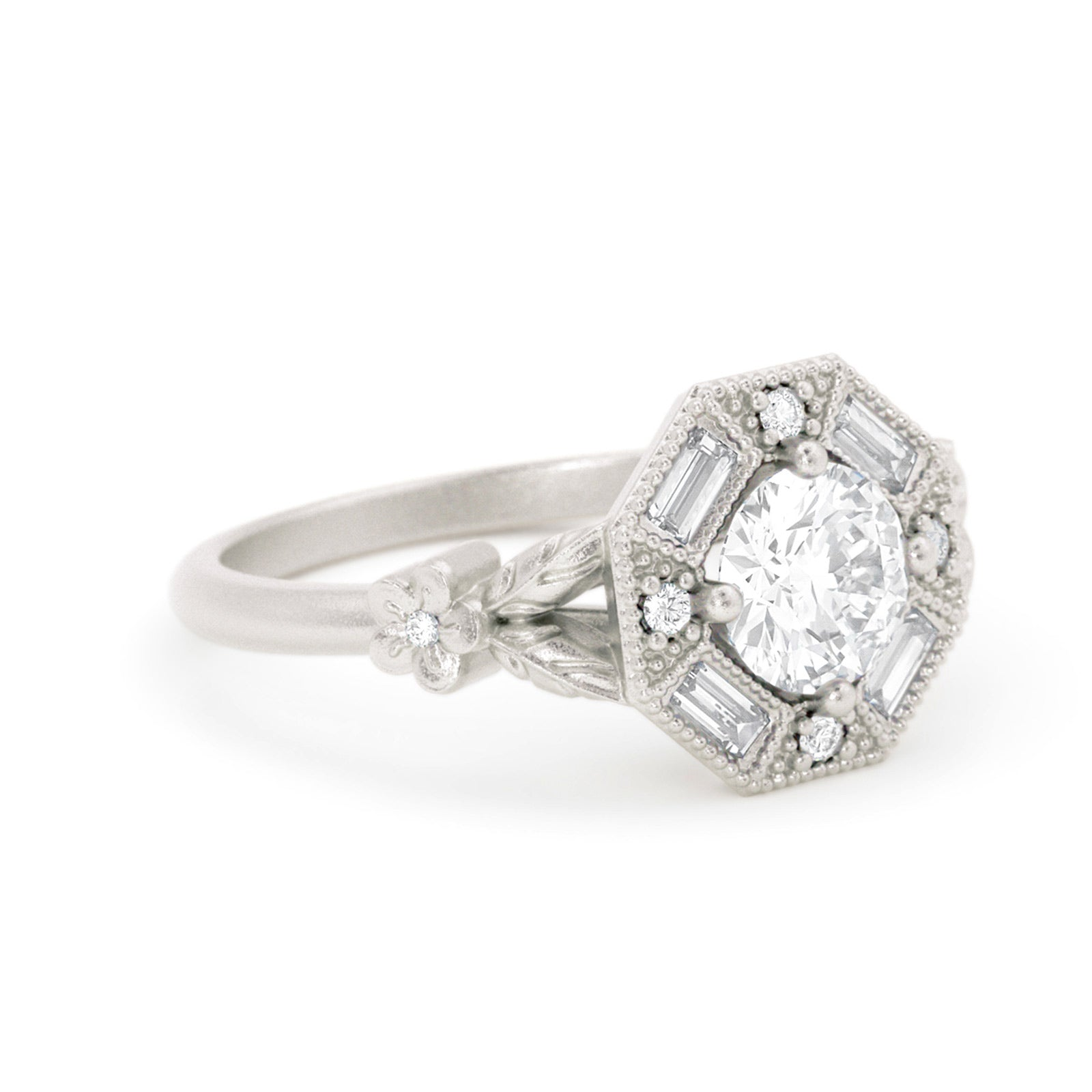 Greta Diamond Art Deco Ring White Gold