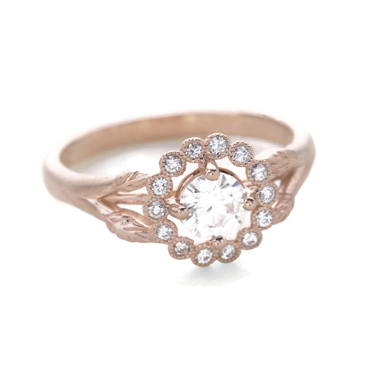 Gwendolyn Diamond Halo Ring