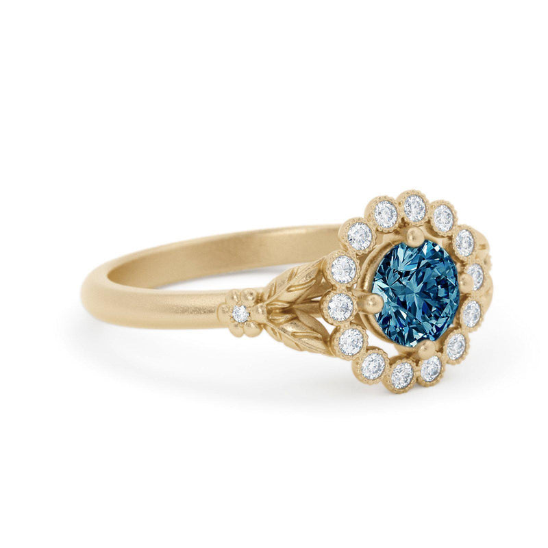Gwendolyn Montana Sapphire Engagement Ring Yellow Gold