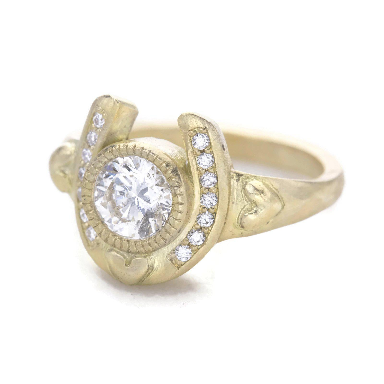 Horseshoe Diamond Engagement Ring