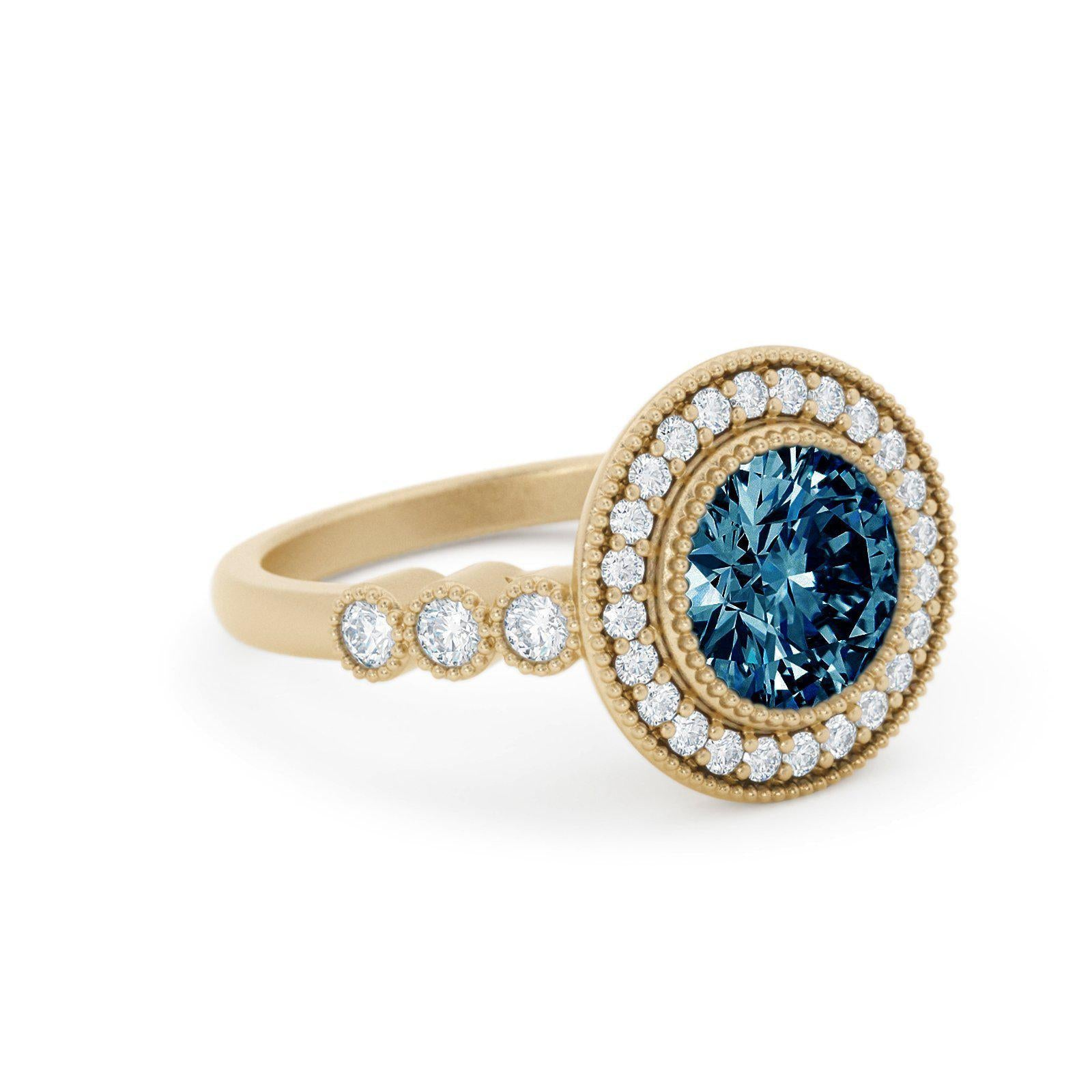 Juliet Montana Sapphire Engagement Ring Halo