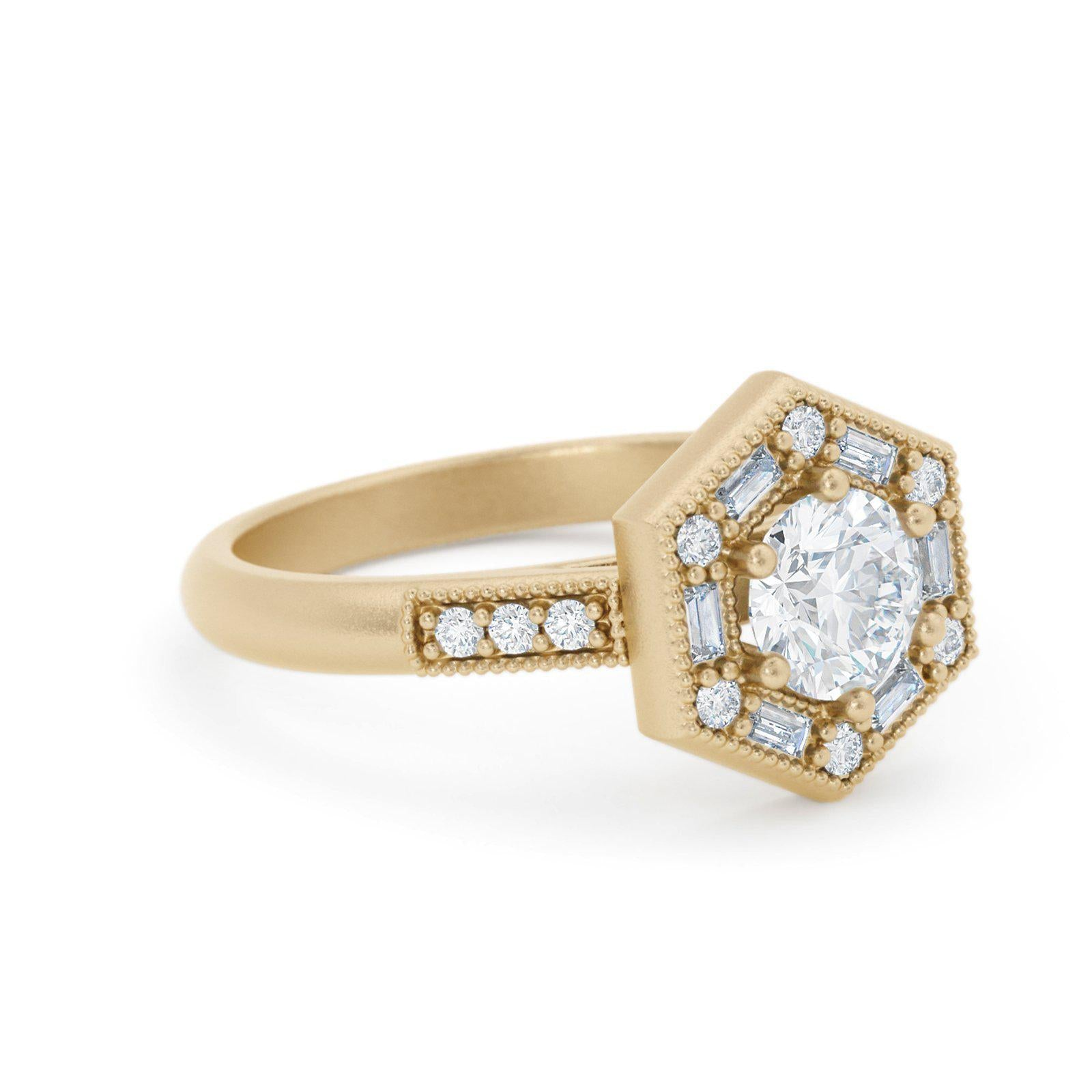 Lorelei Art Deco Diamond Ring Baguette