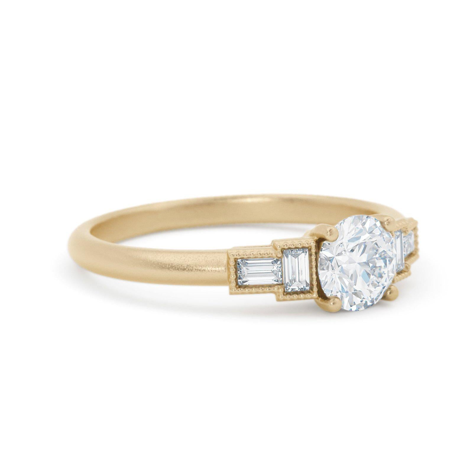 Marlow Art Deco Diamond Ring Baguette