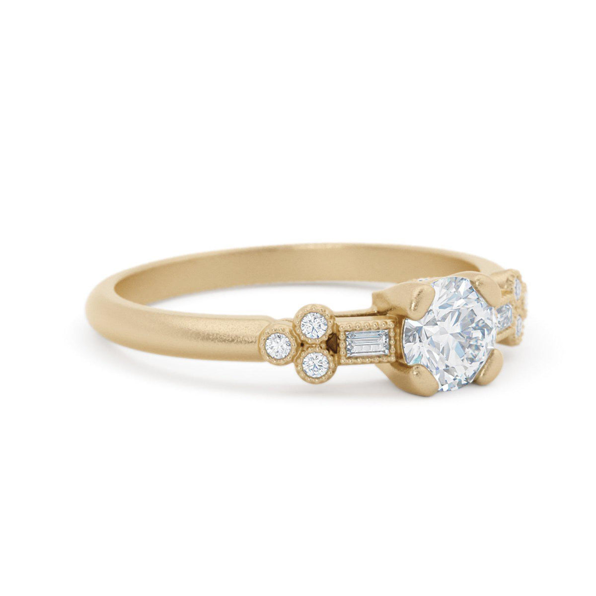 Norah Mae Dainty Diamond Ring Vintage Inspired
