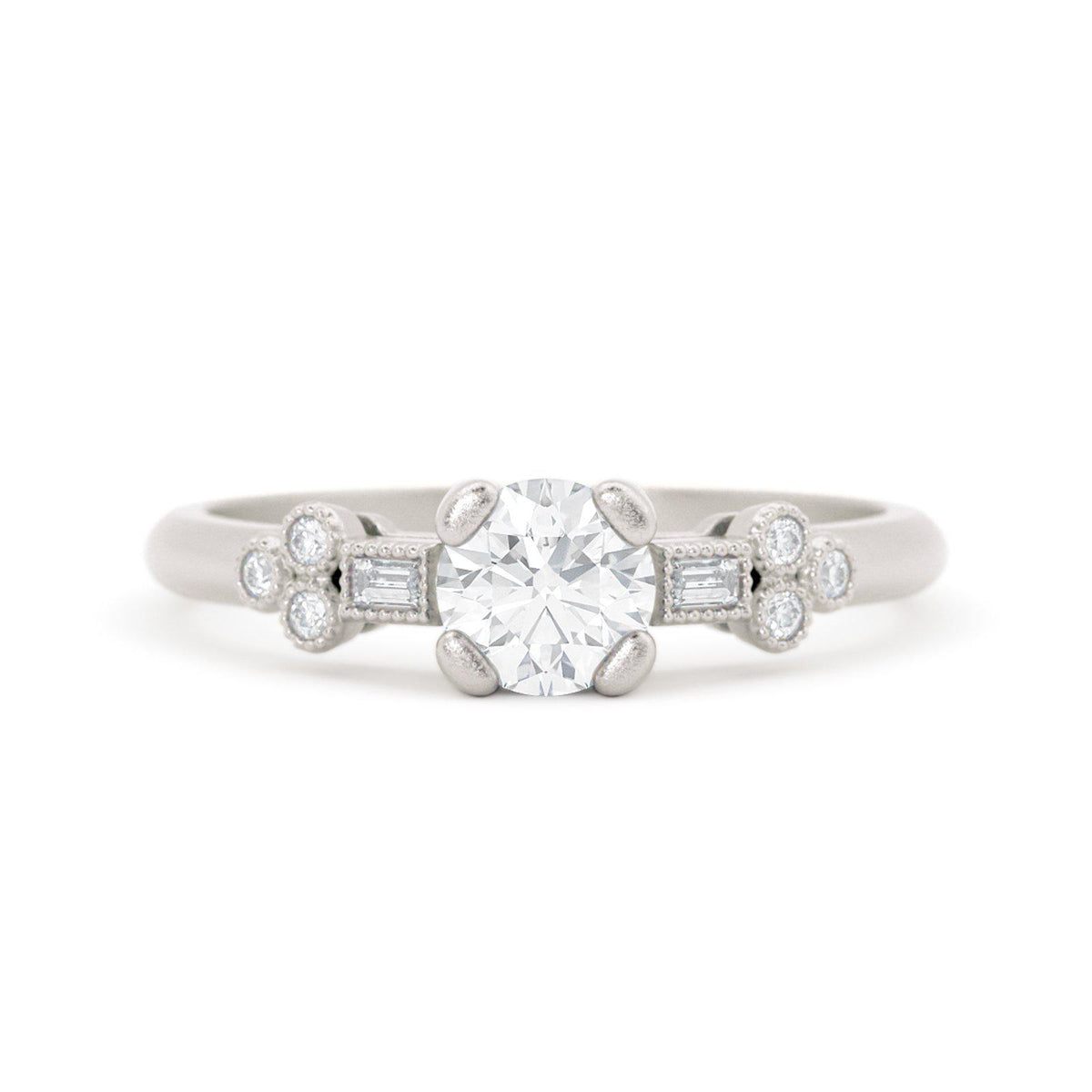 Norah Mae Dainty Diamond Ring White Gold