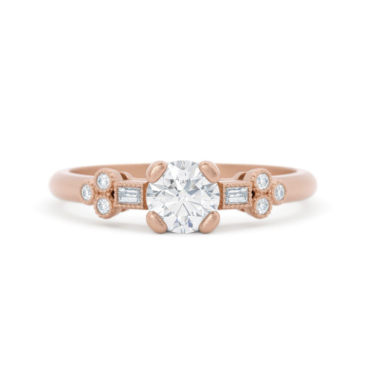 Norah Mae Dainty Diamond Ring Rose Gold