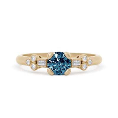 Norah Mae Delicate Montana Sapphire Ring Yellow Gold